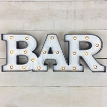 "Battery Operated LED Lighted ""Bar"" Sign"