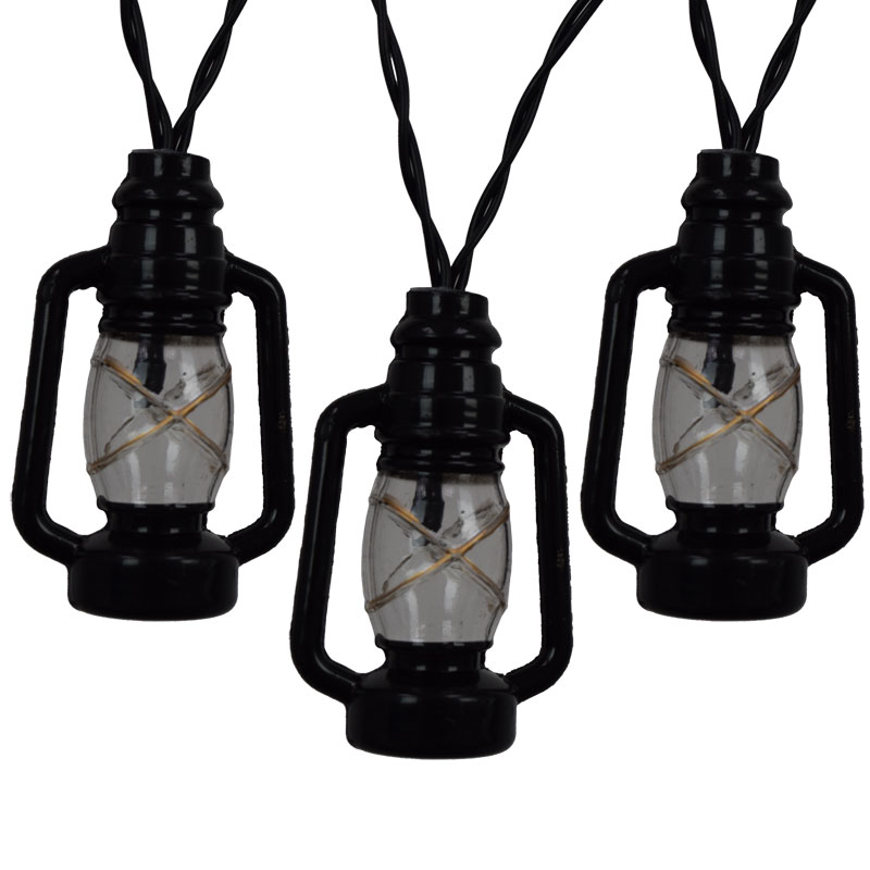 Lantern String Lights Battery Operated : Black Lantern LED String Lights - Battery Operated