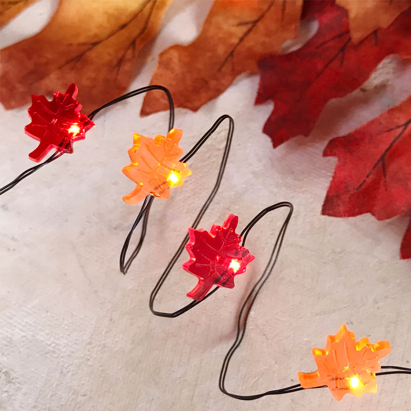 Fall Leaves LED Micro String Lights