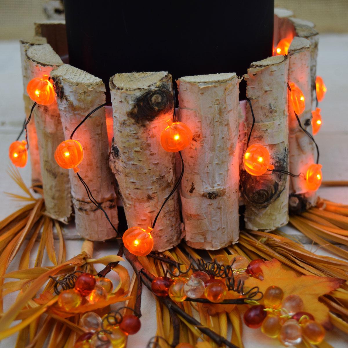 Led halloween pumpkin battery operated mini string lights