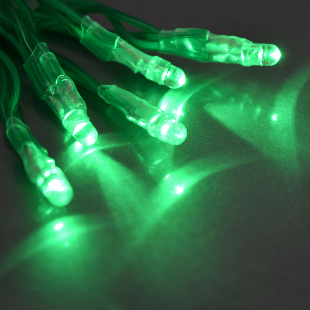 String Lights Green : Tiny LED Battery Operated Stringlight Strand - 10 Green Bulbs