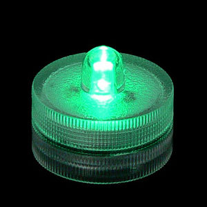 Waterproof Green Submersible Lights - 4 Pack