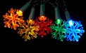 Battery Operated Multi-Color LED Snowflake Party String Light Set - H1301