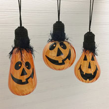 "5.5"" Battery Operated LED Pumpkin Ornament Light"
