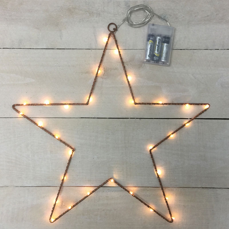 Metal Star Led Lights Battery Operated