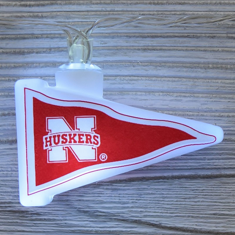NCAA Nebraska Cornhuskers LED Pennant String Lights - Battery Operated TP-NCAA/NEB