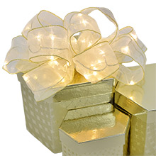 Warm White Organza Ribbon Light - 30 LED - Battery Operated - 8.5 Ft. AIS-048WWH