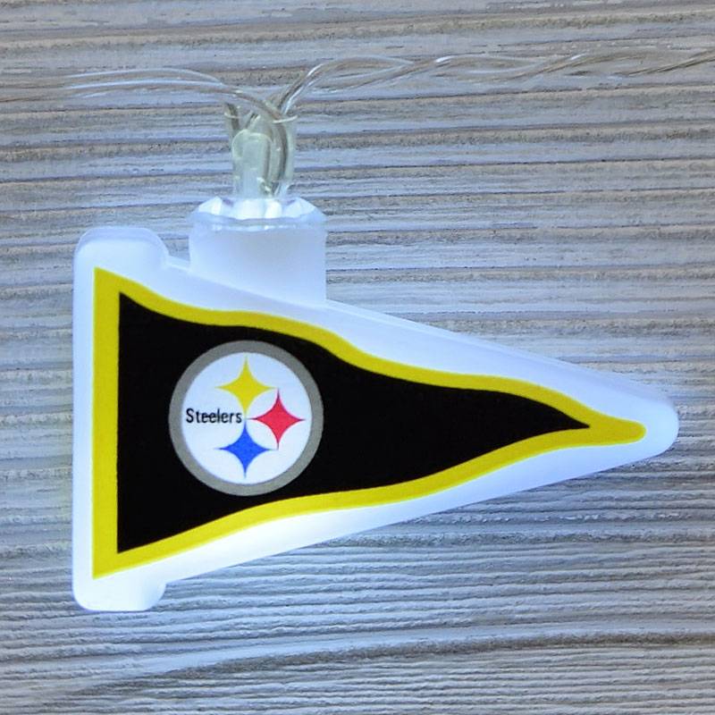 NFL Pittsburgh Steelers LED Pennant String Lights - Battery Operated TP-NFL/STEEL