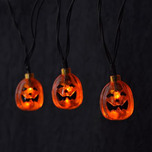 Battery Operated LED Pumpkin Halloween String Lights
