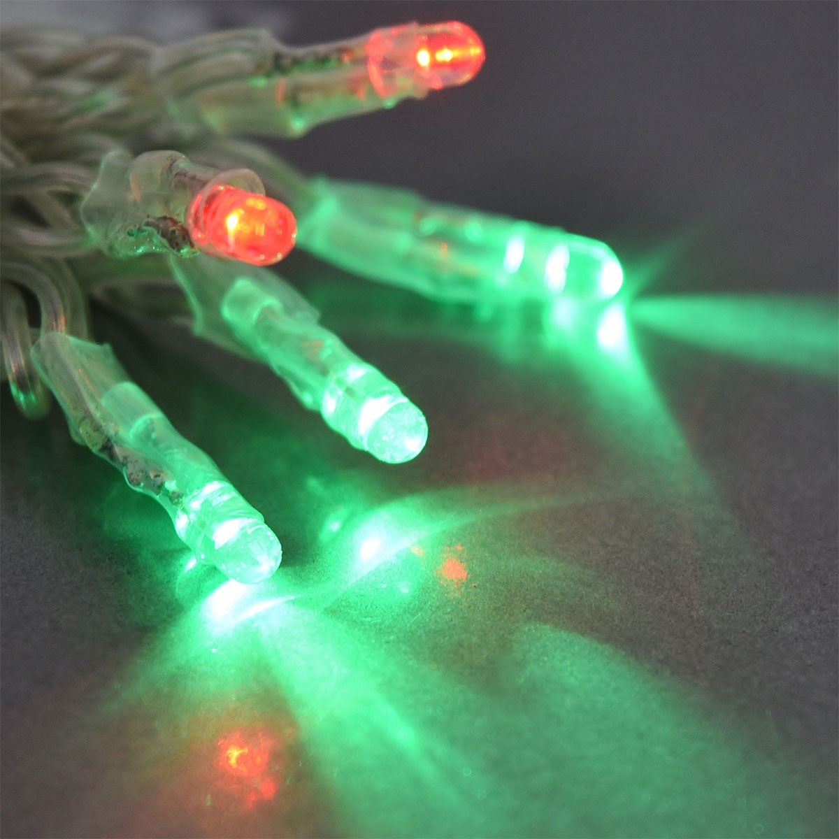 Red & Green Tiny LED Battery Operated Stringlight Strand