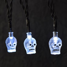 Battery Operated LED Skull Halloween String Lights