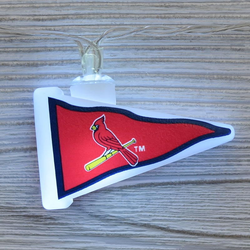 MLB St. Louis Cardinals LED Pennant String Lights - Battery Operated