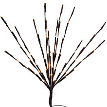 LED Lighted Branches - 60 Warm White LED Lights
