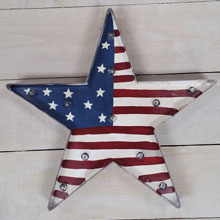 "14.5"" Battery Operated Patriotic Star Light Sign"