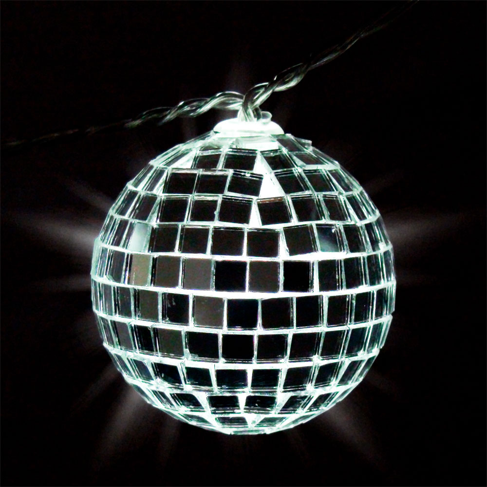 Mirror Ball String Light Set - Battery Operated