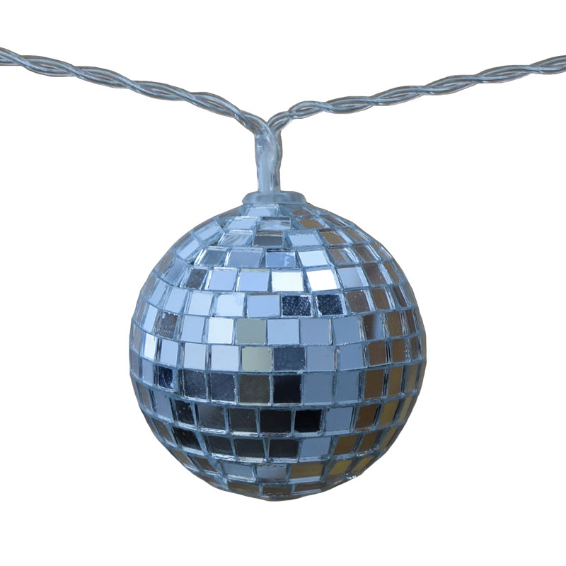 Mirror Ball String Light Set - Battery Operated        FOR-MBS2
