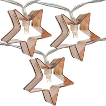 Cookie Cutter Star Party String Lights - Battery Operated - 10 Lights DE-80031S