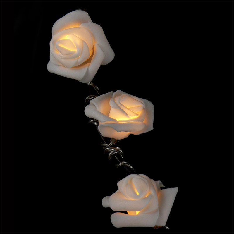 Rose String Lights - Warm White