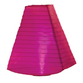 Pink Battery Operated Nylon Trapezoid Shade Lantern - 11