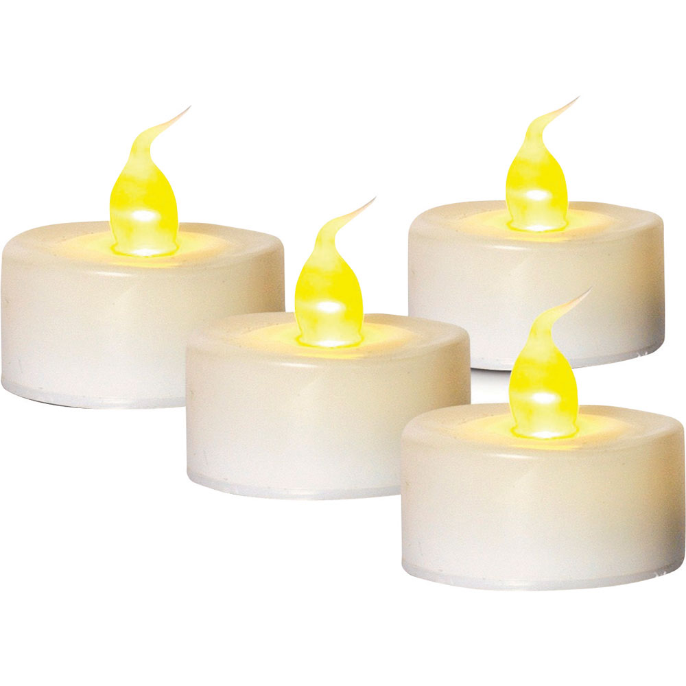 white battery operated tea light candle battery operated candles. Black Bedroom Furniture Sets. Home Design Ideas