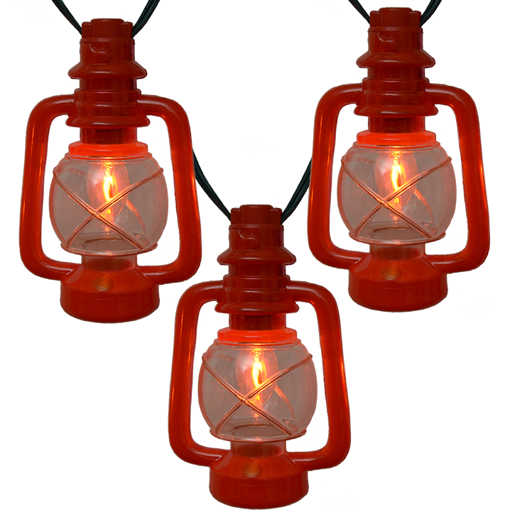 String Of Lantern Lights : C7 Red Lantern String Lights