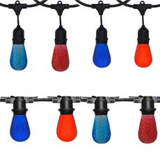 Wrigleyville Red & Blue Commercial String Light Kits