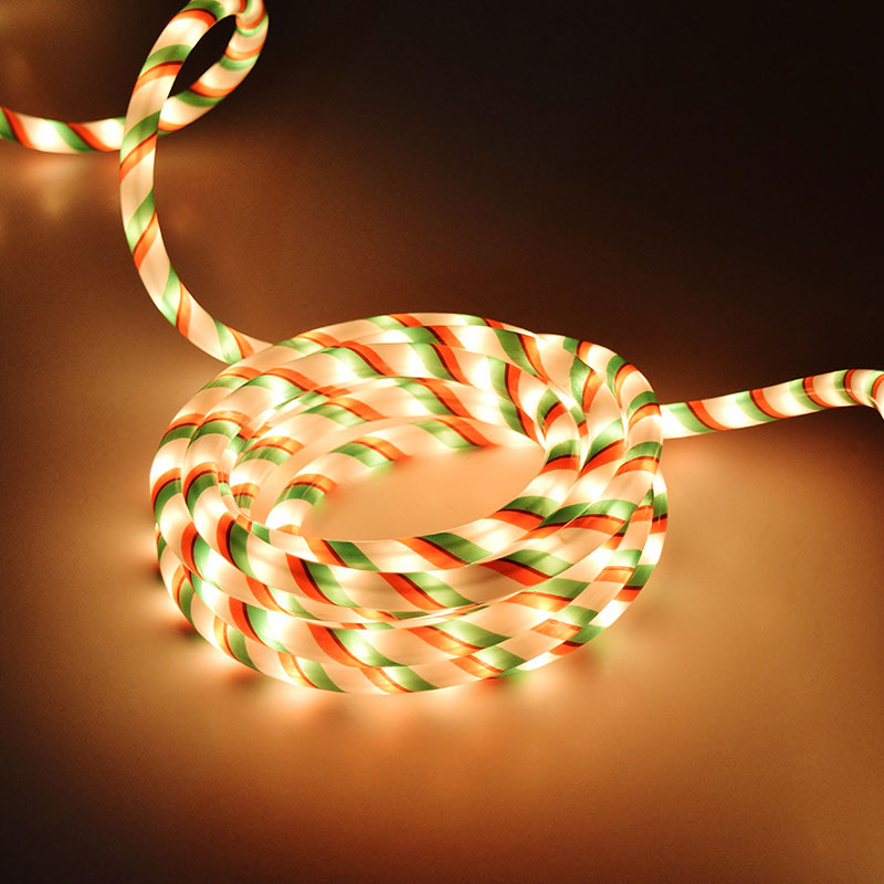 Christmas Rope Light - Red, Green & White - 18 Feet BS-37169