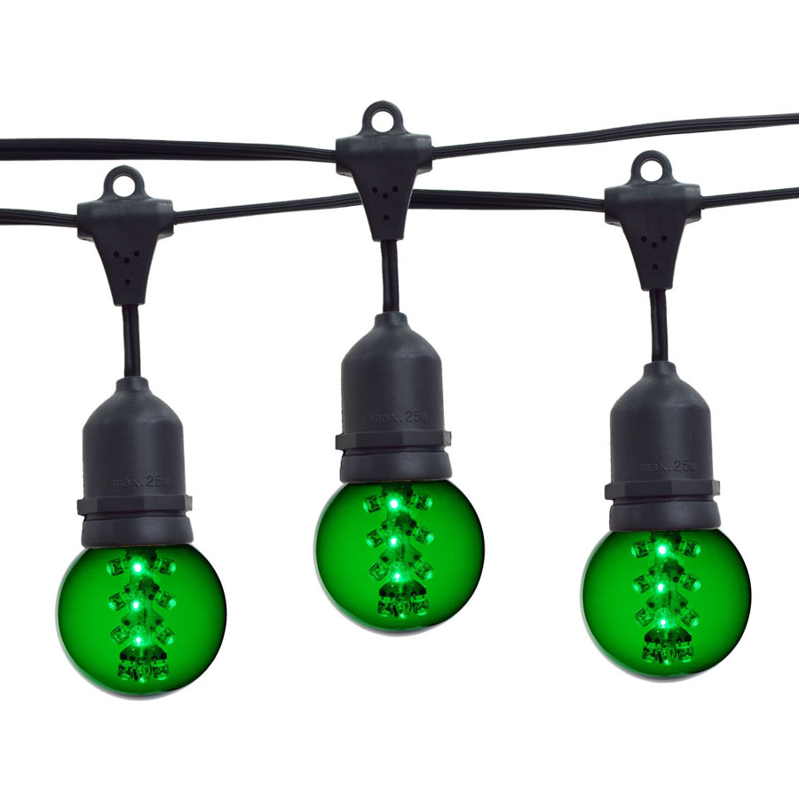 Globe String Lights Kit : 21 ft. Green G50 LED Designer Globe Light Strand