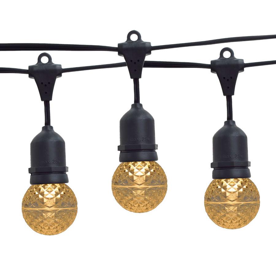 21 ft. Sun Warm White G50 LED Globe Light Strand - Suspended Black Wire
