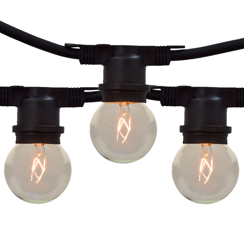 Globe String Lights Kit : Clear Globe Outdoor String Lights - 330 Foot Non-Suspended