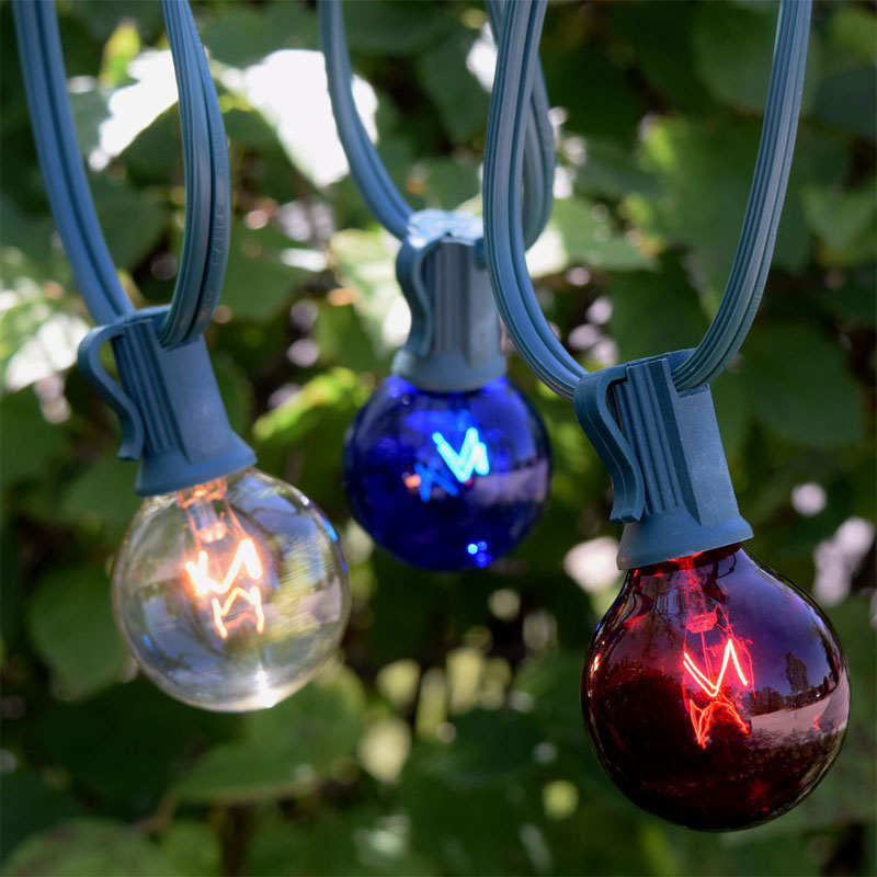 100' C7 Patriotic Globe String Lights