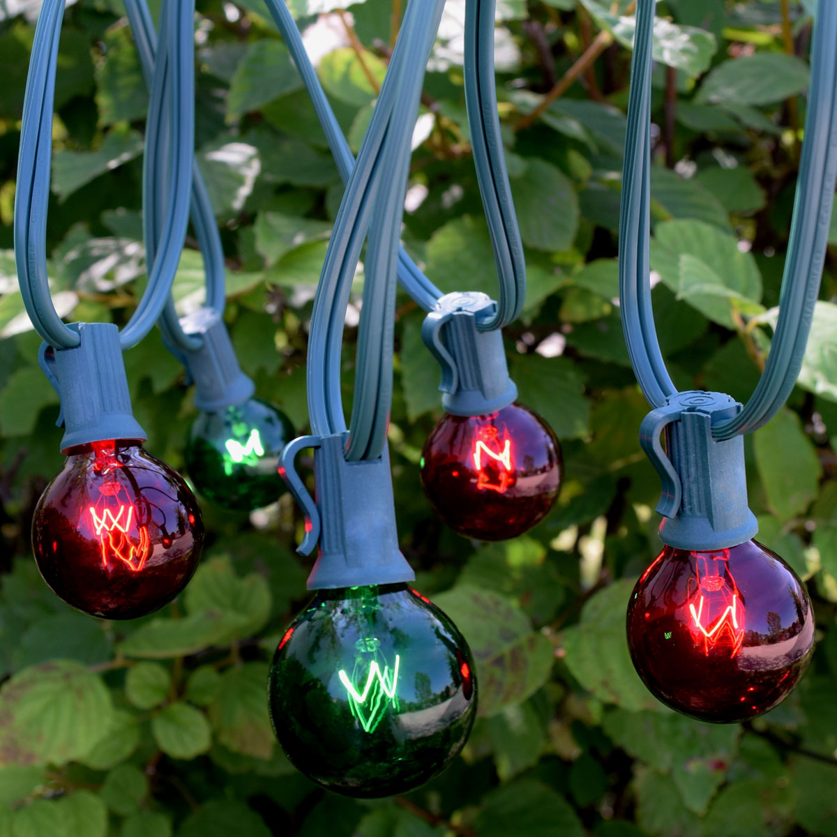 25' C7 Red & Green Globe String Light Strand