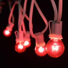 25' Pink Globe String Lights - White C9 Strand