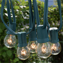 50' C9 Clear Globe String Light Strand