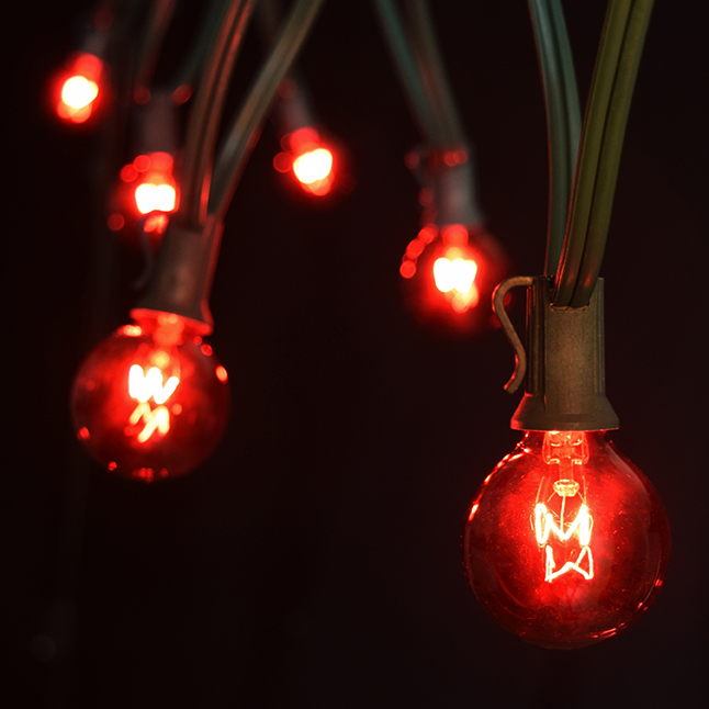 50 Red Globe String Lights - Christmas Lights
