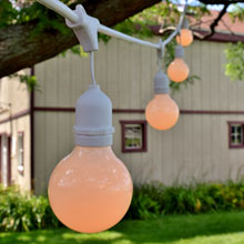 White Globe Patio String Light Kit - 48' White Suspended
