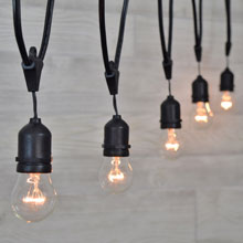 Medium Base Suspended Commercial String Light