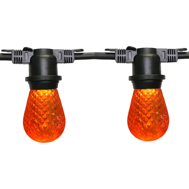 Amber LED Heavy Duty String Lights
