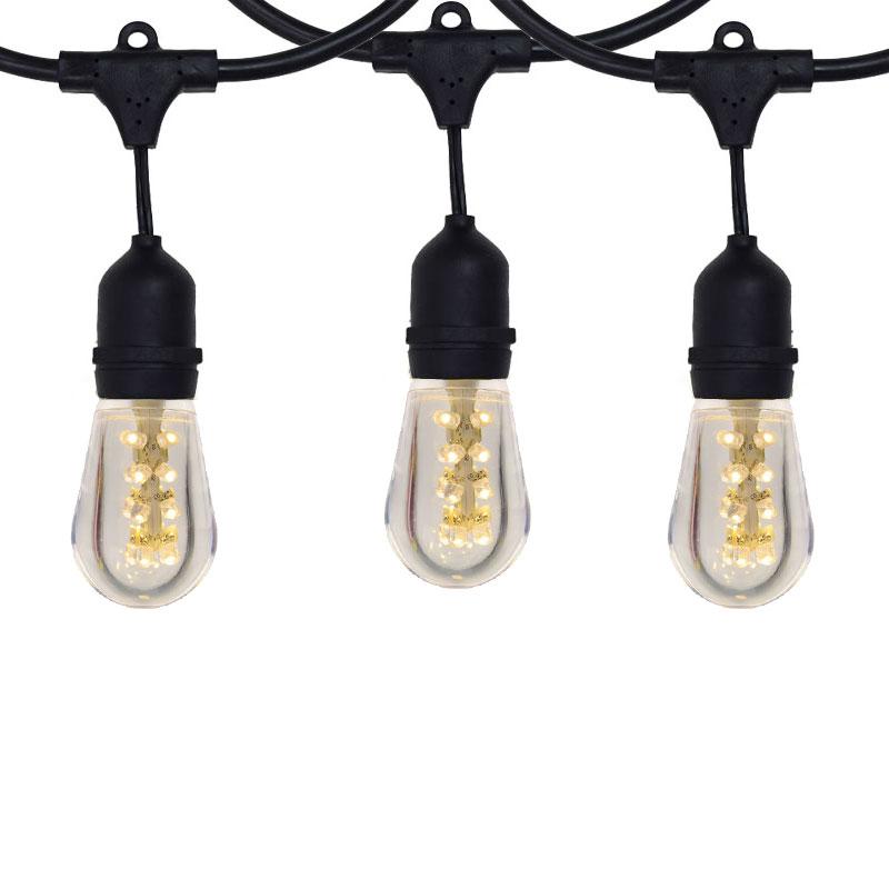Outdoor String Lights Plastic Bulbs : LED Heavy Duty Outdoor Light Strand - 100 foot