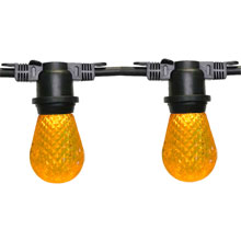 100' Yellow LED Commercial Light Strand Kit