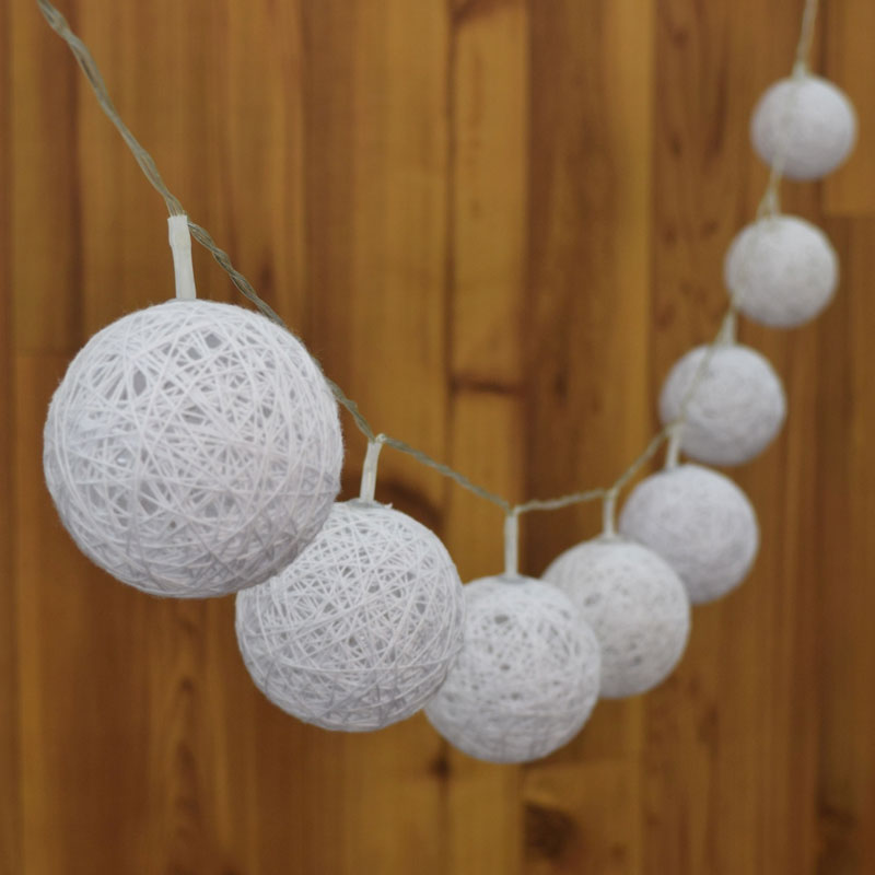 Cotton Ball String Light Set - CW/WW                         FOR-10DW