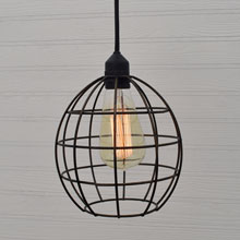 Vintage Caged Hanging Edison Lamp