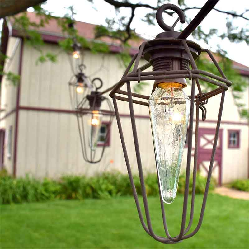 Vintage Wire Cage String Lights