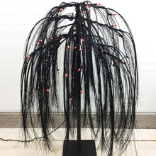 3' Black Weeping Willow Pre-Lit Tree