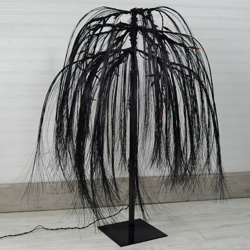 ft. prelit black weeping willow tree, Natural flower