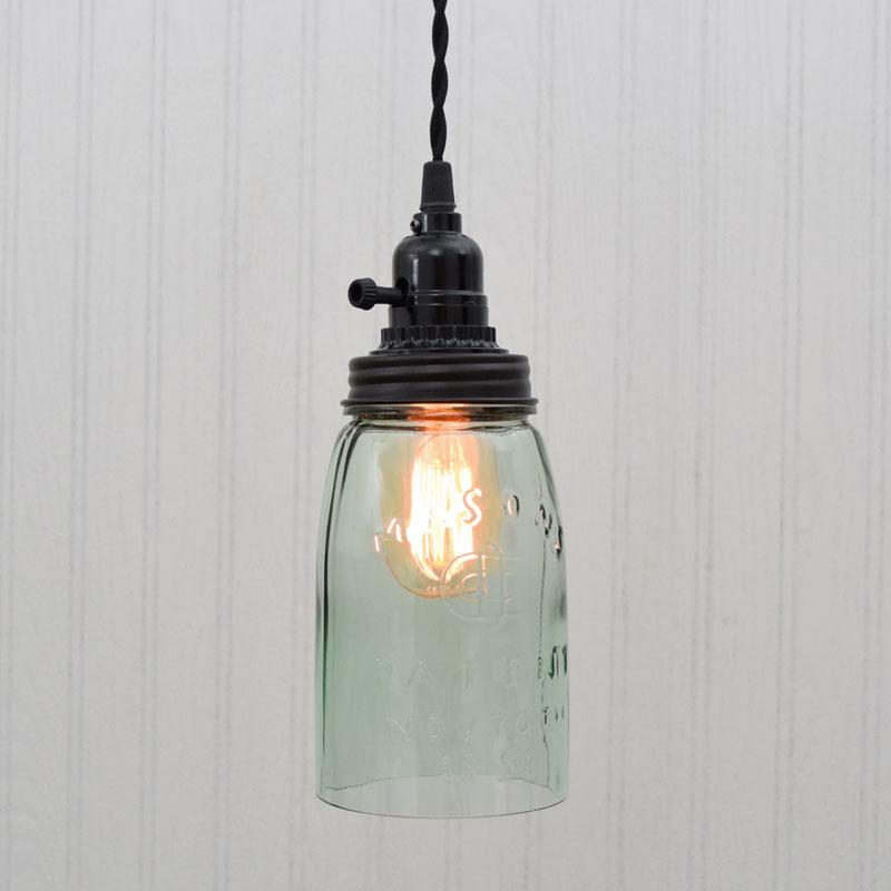 Rustic Mason Jar Pendant Light