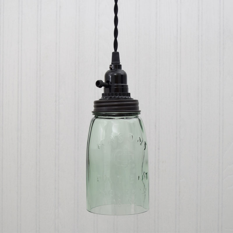 Rustic Mason Jar Pendant Light