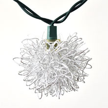 Silver Metal Starburst Party String Lights