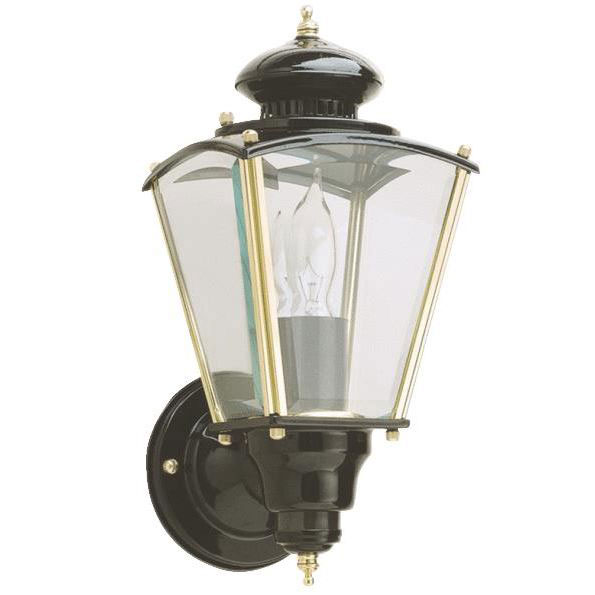 Black Brass Coach Motion Light Fixture