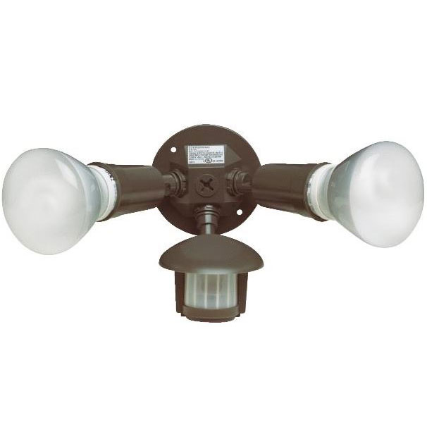 Bronze Twin Motion Flood Light Fixture